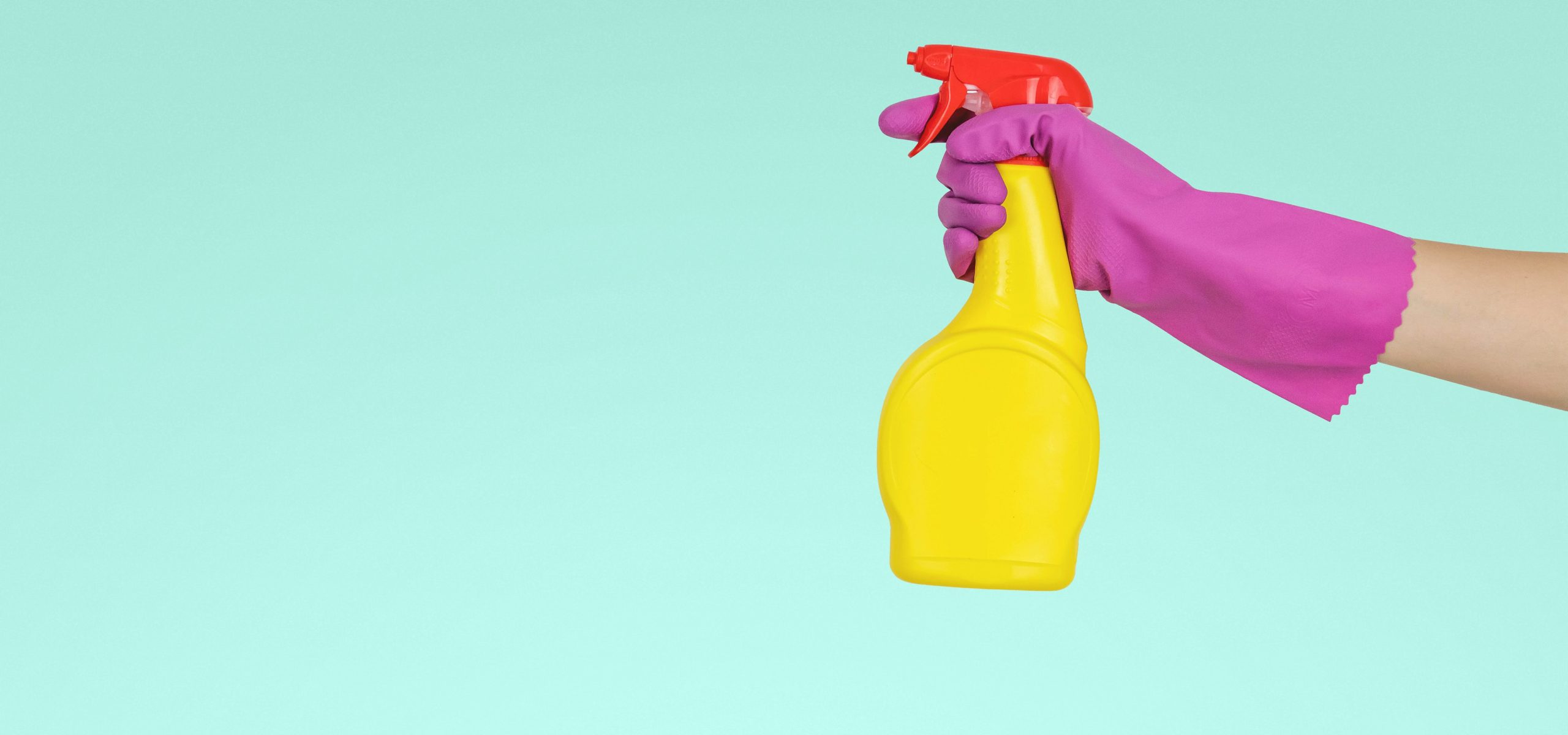 Cleaning bottle - reduce pollution